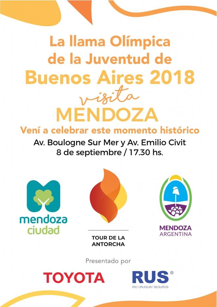 La Ciudad De Mendoza Recibira El Tour De La Llama Olimpica De La