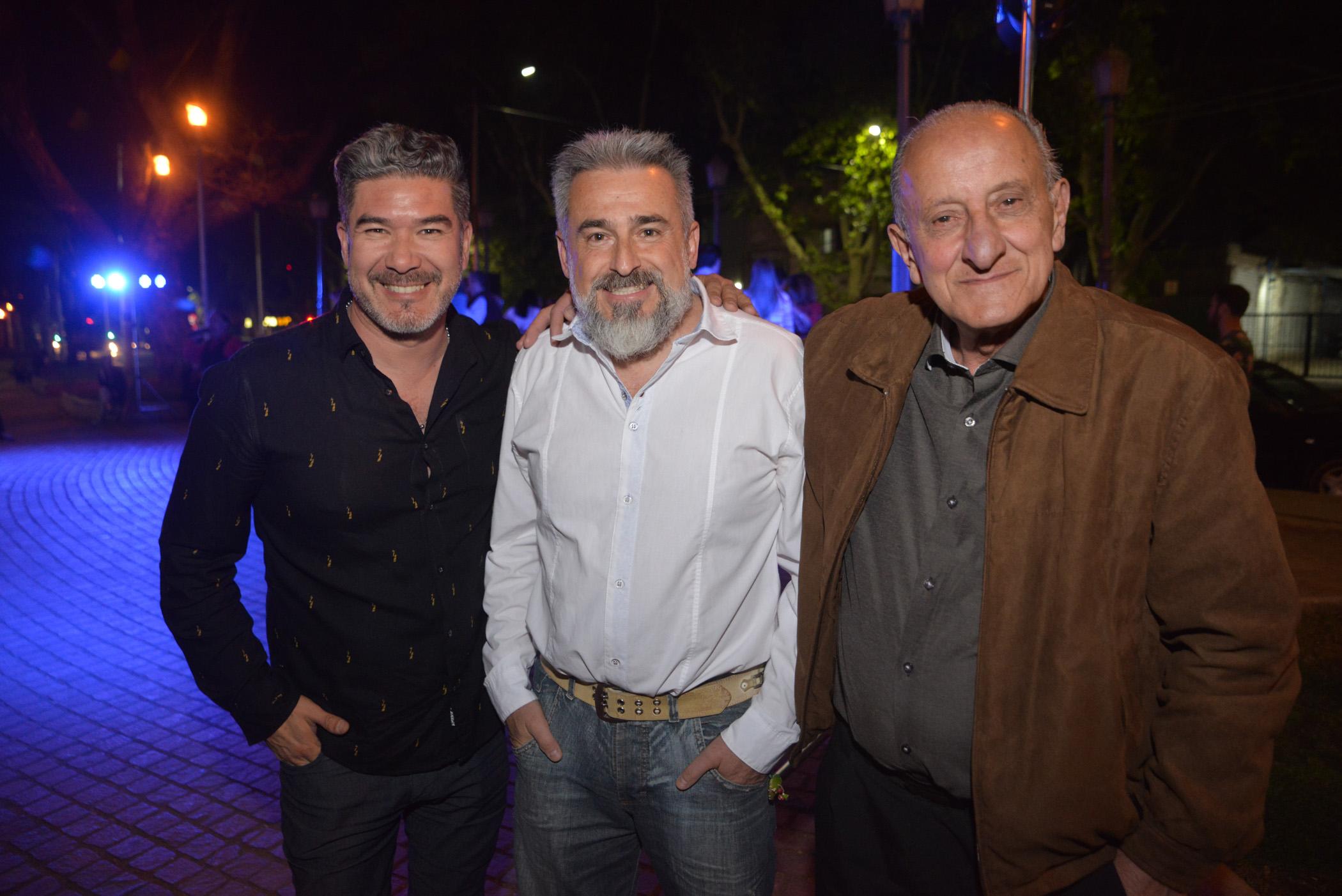 Iván Martínez Mario Raholin y Pepe Ahuara