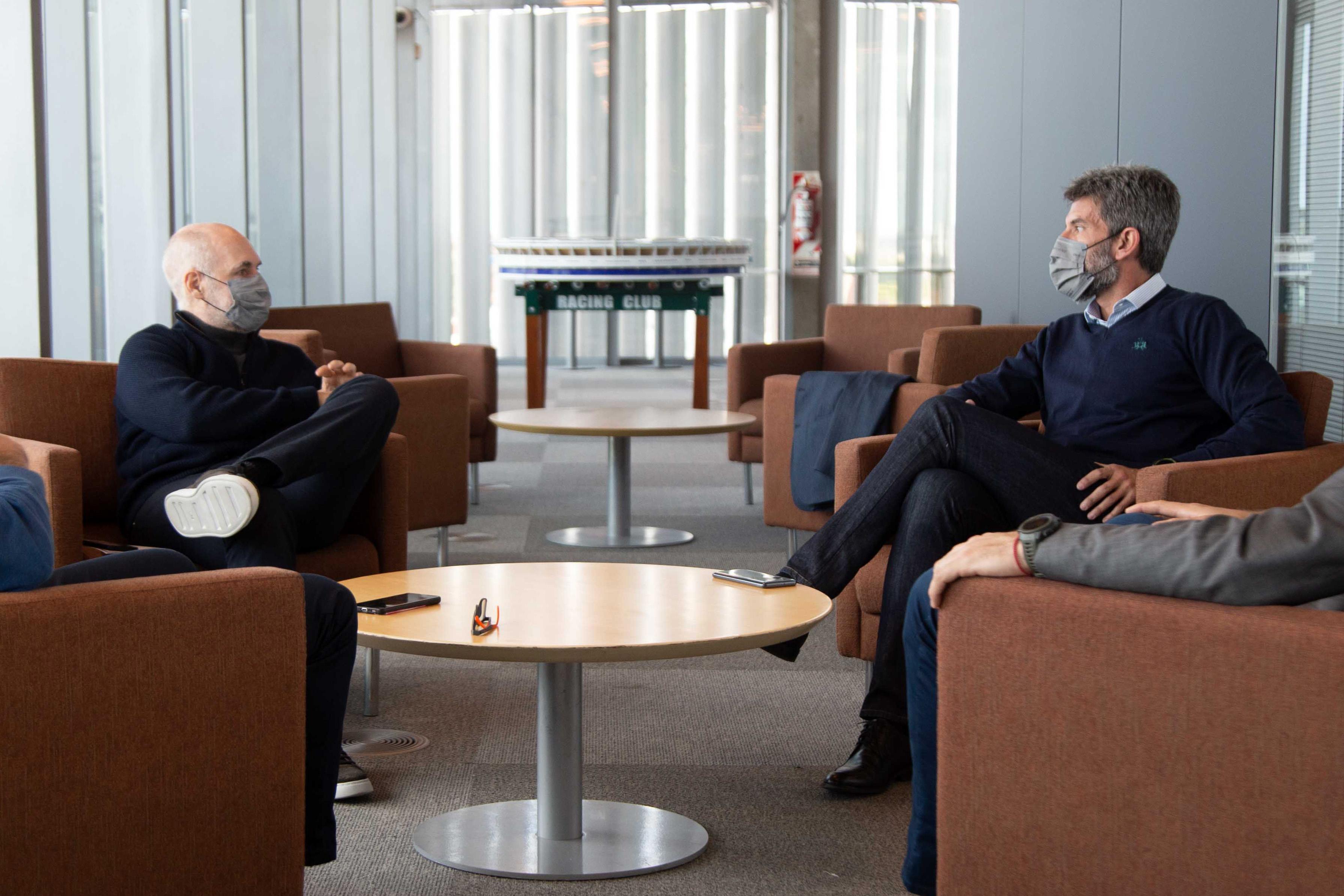 Ulpiano Suarez y Horacio Rodríguez Larreta intercambiaron sus estrategias de gestión